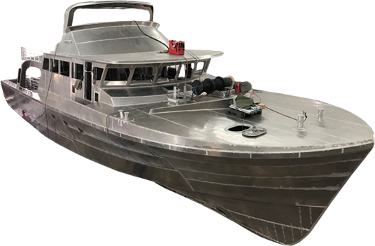 Aluminium Boat Under Construction